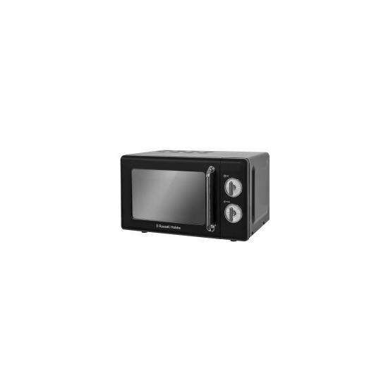 Russell Hobbs RHRETMM705B Retro 17 Litre Black Manual Microwave
