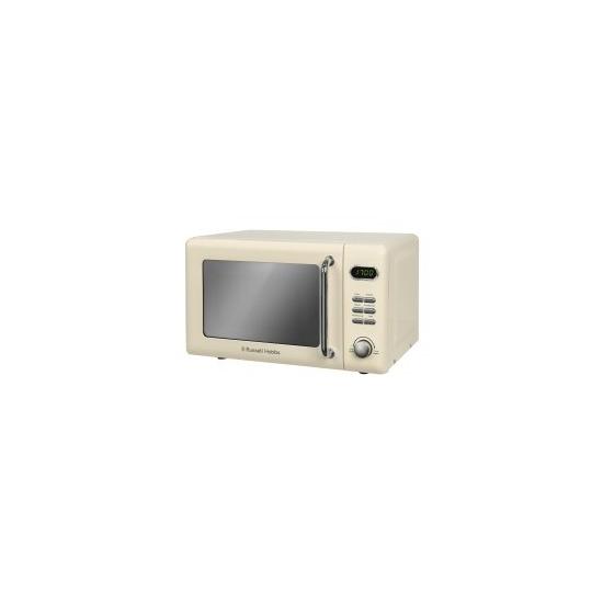 Russell Hobbs RHRETMD706C Retro 17 Litre Cream Digital Microwave