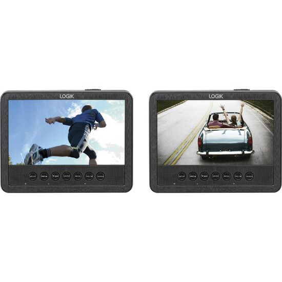 LOGIK  L7DUAMM16 Dual Screen Portable DVD Player