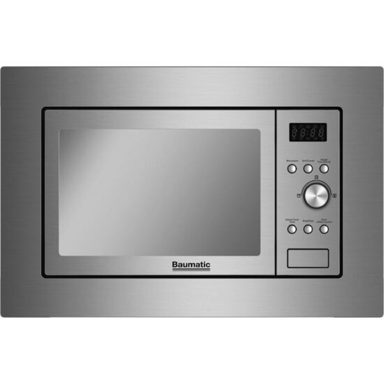 BAUMATIC BMIG4625M Built-in Microwave with Grill - Stainless Steel