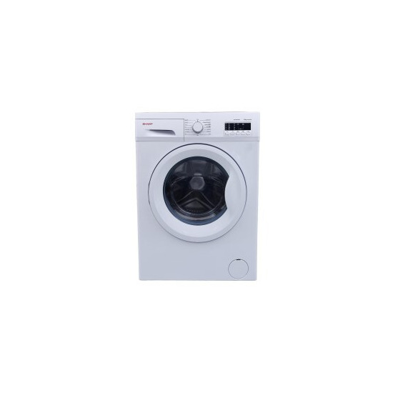 Sharp ES-FA6122W2 Slim-depth 6kg 1200 rpm Freestanding Washing Machine