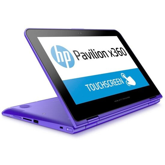 HP Pavilion X360 11-k104na Convertible Laptop Intel Celeron N3050 1.6GHz 4GB RAM 500GB HDD 11.6 Touch LED No-DVD Intel HD Webcam WIFI Bluetooth Windows 10 purple