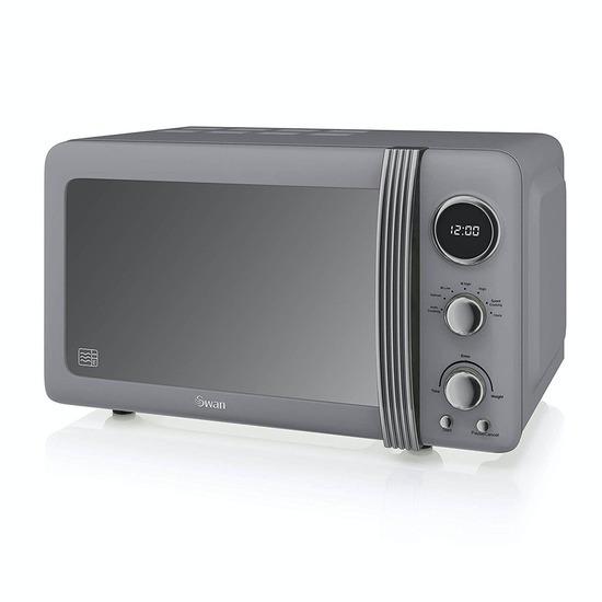 SWAN  Retro SM22030GRN Solo Microwave - Grey