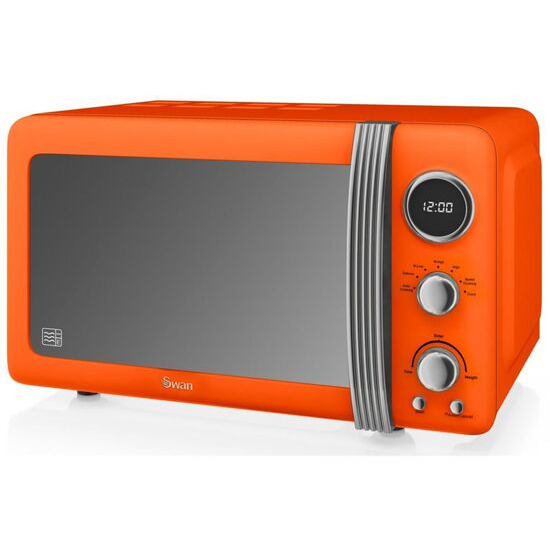 SWAN  Retro SM22030ON Solo Microwave - Orange