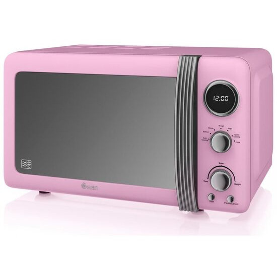 SWAN  Retro SM22030PN Solo Microwave - Pink