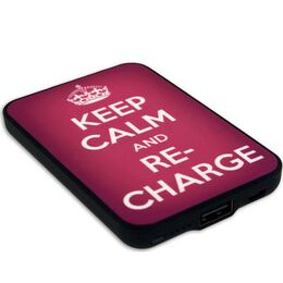 JACK & CABLES  Keep Calm and Re-Charge Portable Power Bank - Pink Reviews