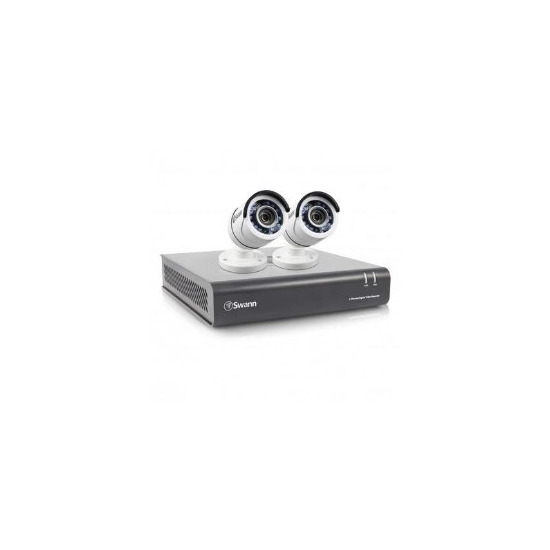 Box Opened Swann A1 DVR4-4550 4 Channel 1080p Digital Video Recorder with 2 x PRO-T853 Cameras