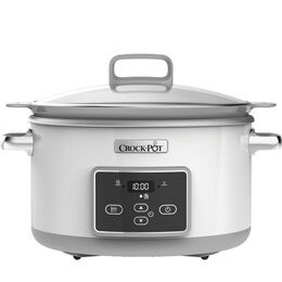 CROCK-POT  DuraCeramic Sauté Slow Cooker - White Reviews