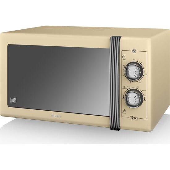SWAN  Retro SM22070CN Solo Microwave - Cream