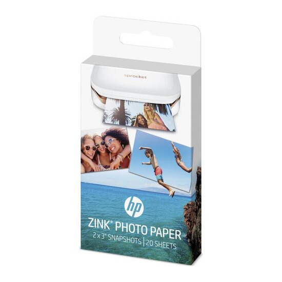 HP  ZINK 50 x 76 mm Photo Paper for HP Sprocket - 20 Sheets