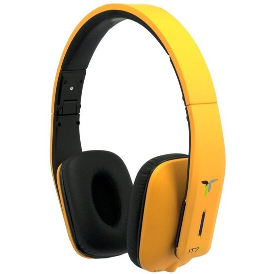 iT7x2 Foldable Wireless Bluetooth Headphones with Near Field Communication NFC Orange