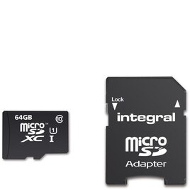 Integral 64GB Smartphone/Tablet Class 10 MicroSDHC Memory Card