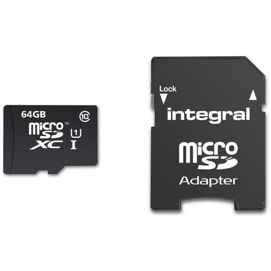 Integral 64GB Smartphone/Tablet Class 10 MicroSDHC Memory Card