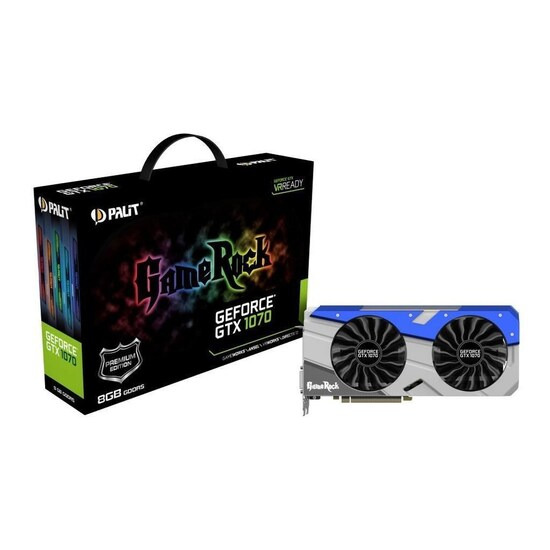 Palit NVIDIA GeForce GTX 1070 8GB GameRock Premium Edition Graphics Card