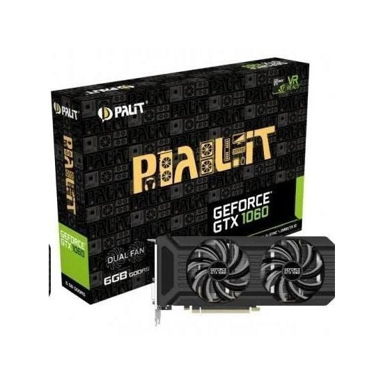 Palit GeForce GTX 1060 JetStream 6GB GDDR5 Dual-link DVI HDMI DisplayPort PCI-E Graphics Card
