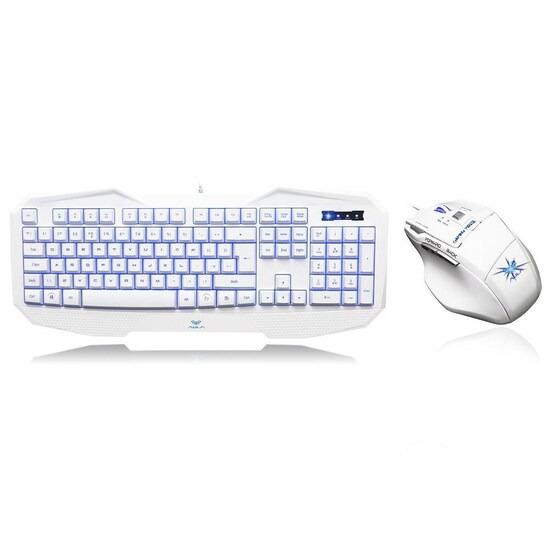 Aula 859 Befire White Keyboard 928 Killing Soul White Mouse Gaming Combo