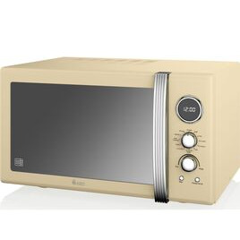 SWAN  SM22080CN Retro Microwave with Grill - Cream Reviews