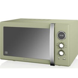 Swan SM22080GN Retro Digital Microwave with Grill - Green Reviews