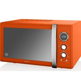 SWAN  SM22080ON Retro Microwave with Grill - Orange Reviews