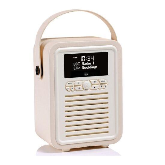 VIEWQUEST  Retro Mini VQ-MINI-CR Portable Bluetooth DAB Radio - Cream