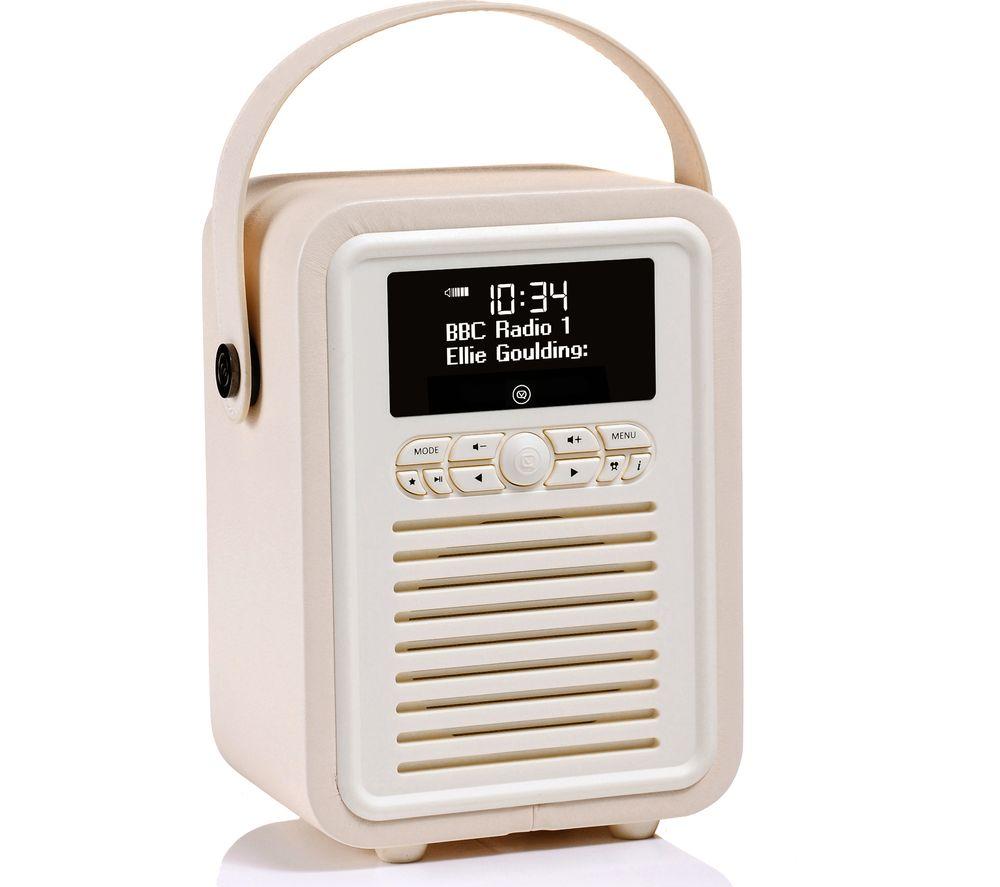 Viewquest Retro Mini Vq Cr Portable Bluetooth Dab Radio Cream Original