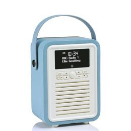 VIEWQUEST  Retro Mini VQ-MINI-TL Portable Bluetooth DAB Radio - Blue Reviews