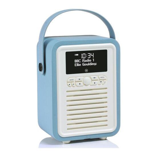 VIEWQUEST  Retro Mini VQ-MINI-TL Portable Bluetooth DAB Radio - Blue