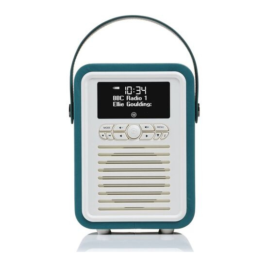 VIEWQUEST  Retro Mini VQ-MINI-TL Portable Bluetooth DAB Radio - Teal