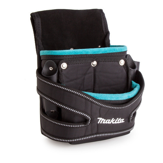 Makita P-71750 Leather / Nylon 2 Pocket Fixings Pouch Blue