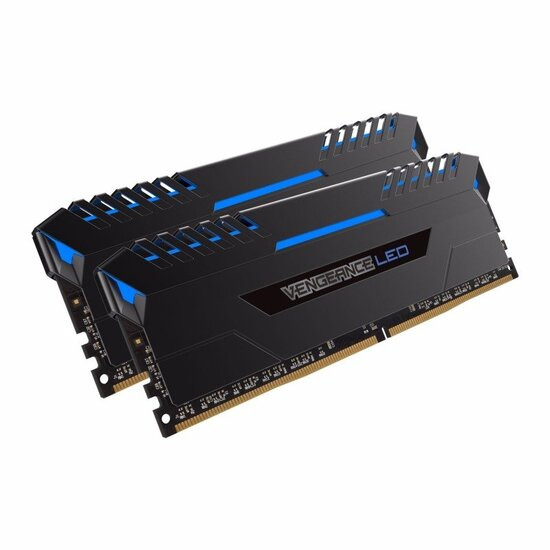 Corsair Vengeance Blue LED 16GB DDR4 3000mhz Memory Kit- CMU16GX4M2C3000C15B