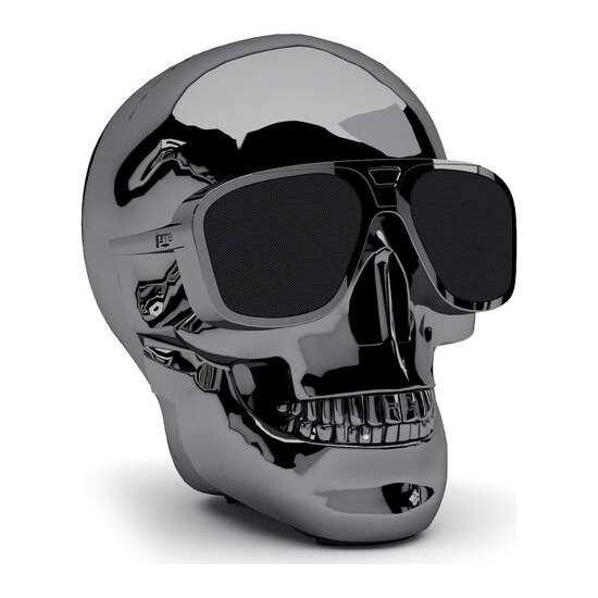 JARRE  AeroSkull XS + Portable Wireless Speaker - Chrome Black