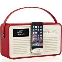 VIEWQUEST  Retro Mk II Portable DAB+/FM Bluetooth Clock Radio - Red Reviews