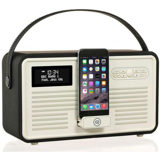 VIEWQUEST  Retro Mk II Portable DAB+/FM Bluetooth Clock Radio - Black