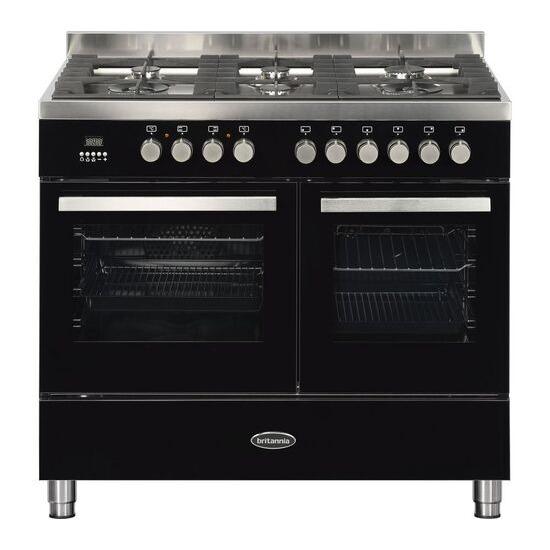BRITANNIA Sonetto 100DF TC Dual Fuel Range Cooker Chrome