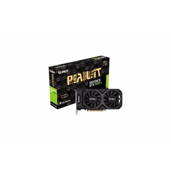 Palit Nvidia GeForce GTX 1050 Ti 4GB GDDR5 Dual OC Graphics Card- NE5105TS18G1-1071D