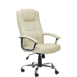 ALPHASON  Houston Leather Reclining Executive Chair - Cream Reviews