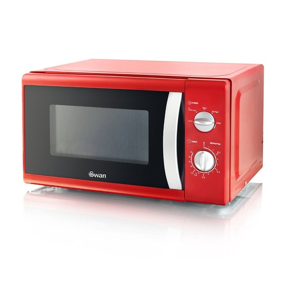 Swan SM40010REDN 800W Freestanding Microwave Oven Red