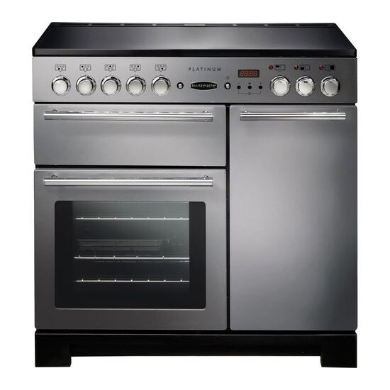 RANGEMASTER Platinum 90EISS/C Electric Induction Range Cooker - Stainless Steel & Chrome