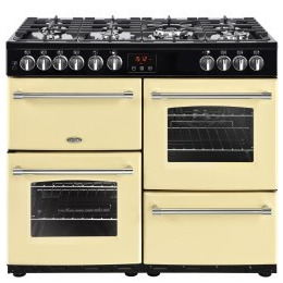 Belling Farmhouse 100DFT 100cm Dual Fuel Range Cooker Cream Reviews