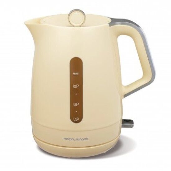 Morphy Richards 101204 Mar14 Chroma Plastic Cream Chrome 1.5lt 3kw Kettle