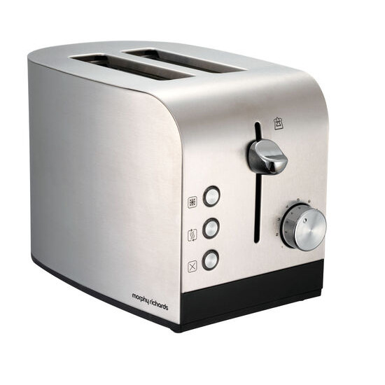 MORPHY RICHARDS Morphy Richards 44261 2-Slice Toaster - Stainless Steel & Black