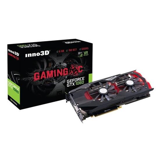 Inno3D Nvidia GeForce GTX 1060 Gaming OC 6GB GDDR5 Graphics Card- N1060-1SDN-N5GNX