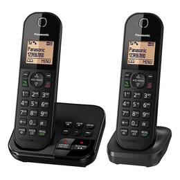 Panasonic KX-TGC422EB Cordless Phone with Answering Machine - Twin Handsets Reviews