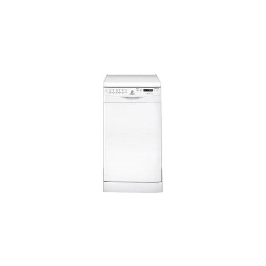 Indesit DSR57B1 slimline Freestanding Dishwasher in White
