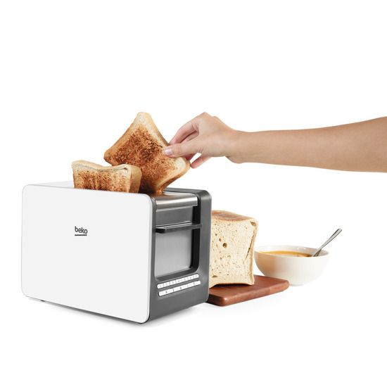 Beko TAM7401C Traditional 4-Slice Toaster - Cream
