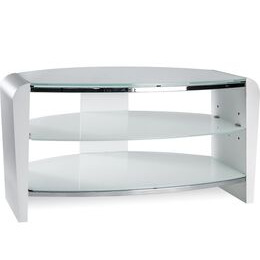 Alphason Francium 800 TV Stand - White & White Glass Reviews