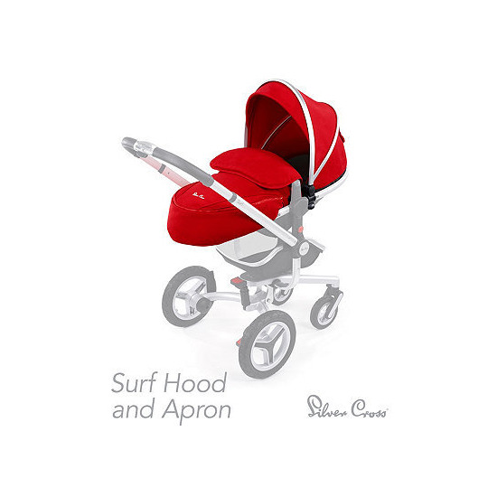 Silver Cross Surf Hood and Apron Colour Pac