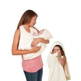 Clevamama Splash and Wrap Apron Baby Bath Towel - Cream Reviews