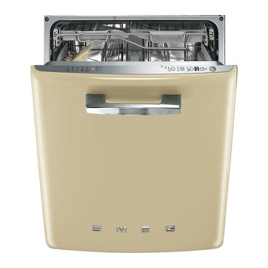 SMEG  DI6FABCR Integrated Full-size Dishwasher - Cream