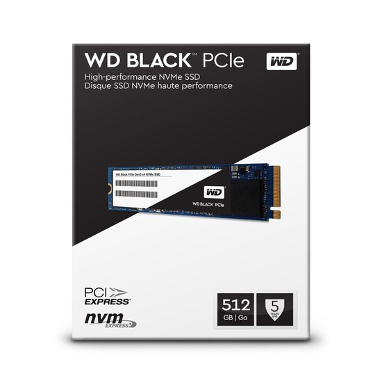 WD 512Gb Black SSD PCIe Hard Drive